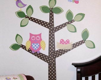 Wall Tree Owl Decal Vinyl Owl Tree Decal Nursery Decor