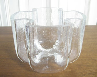 Vase of lead crystal glass from the 70s