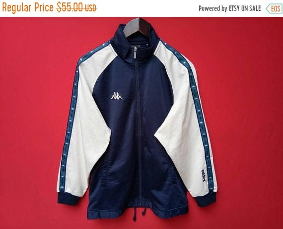 vintage kappa jacket stripe logo hip hop small size JpwlUXSi3