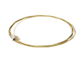 Guitar String Bangle | Brass toned Bracelet | Guitar Music Jewellery