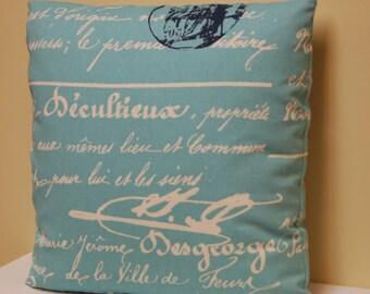 Premier Prints Blue Natural Pillow Cover 18 Inch, Decorative Sofa Pillow, Invisible zipper closure