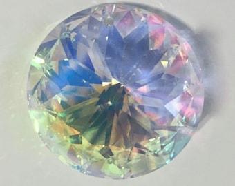 40mm AB Sun Sunflower Chandelier Crystal Prism - Asfour AB Crystal - 1-Hole 40mm Asfour AB Chandelier Crystal