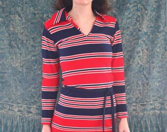 70's Mod Striped Mini Dress