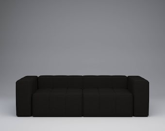 KUBE Modular Sofa System x KOPA, 2 Seater in Charcoal Black