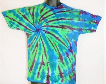 Kids Tie Dye Shirt, Kids XL Tie Dye, Youth size 16 - 18 clothing, Hippy Kid Clothes, Colorful Shirt, Unique Tie Dye, Boys or Girls Top, KT5