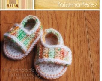 INSTANT DOWNLOAD - Crochet Baby Summer Sandals - Crochet sandals - Crochet pattern