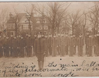 University Cadets 1910s - Vintage Real Photo Postcard