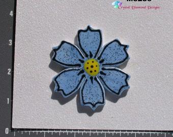 Blue Flower - Kiln Fired Handmade Ceramic Mosaic Tiles M3286