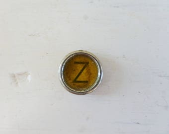 Typewriter key, Letter Z, vintage key, vintage supplies, cute key