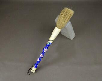Antique Blue Flower Porcelain Painted Brush Rustic Decor Home Accents Vintage Ornaments Christmas Gift idea
