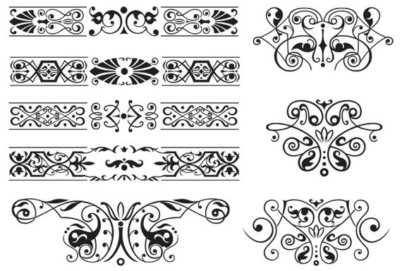 Vector border clipart corners clipart decorative ornament black vector border clipart corners clipart decorative ornament black frames clip art digital divider elements wedding invitations banners scroll from stopboris Choice Image