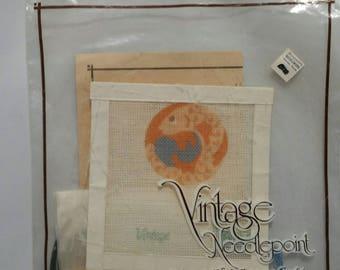 Vintage Needlepoint Pisces Canvas Kit 600