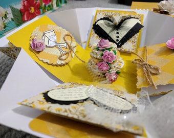 Exploding Box / Wedding Explosion Box/ Couple's Exploding Box
