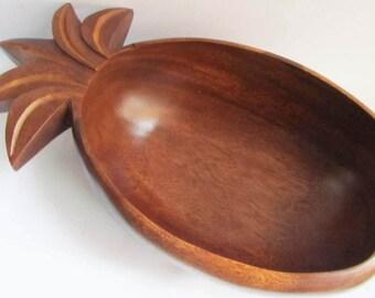 Large vintage monkey pod wooden bowl mid century- 70's HAWAIIAN TIKI BAR