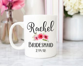 Bridesmaid Mug, Bridesmaid gift, bridesmaid coffee mug, bridesmaid custom gift, custom mug, custom coffee mug, wedding gift, bridal party