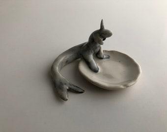 Miniature Ceramic Sculpture/ Hand Built  Sea Creature