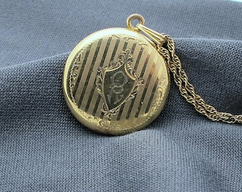 larger gold filled locket and chain