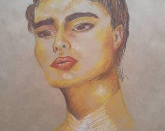 """A3 Oil Pastel illustration """"Blinding Sun"""""""