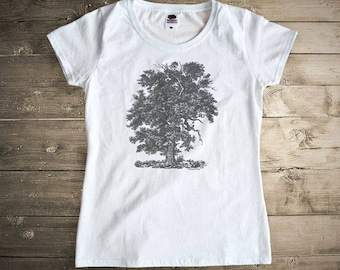 Majestic oak tree T-shirt-Vintage Oak tree tees-oak tees-oak tree women tees-oak tree top vest-oak tree women tank top-NATURA PICTA NPTS039