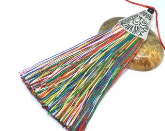 Large tassel 08cm polyester with Silver Cup
