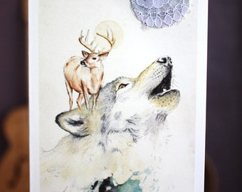 Wolf Island | Greeting card