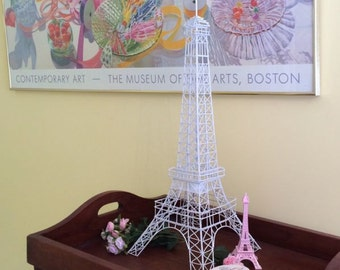 "Beatiful Lovely Classic Wedding  White Large Eiffel Tower 28"""