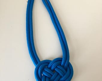 Royal Blue Small Rope Necklace