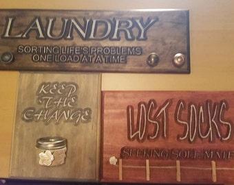 Laundry Room Decor!