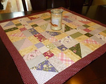Spring Patchwork Quilted Wall-hanging or Table Topper