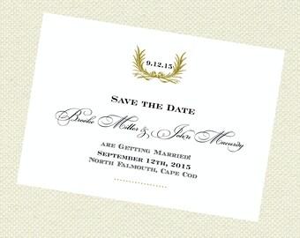 Leaf frame formal elegant Save the Date, Wedding Save the Date,