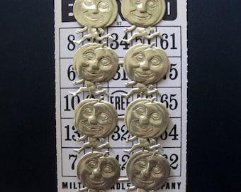 Gold Running Pumpkin Men, Dresden Scraps, Made in Germany, 8