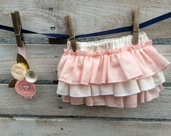 Ruffle Diaper Cover with Headband, Newborn Diaper Cover, Ruffle Diaper Cover