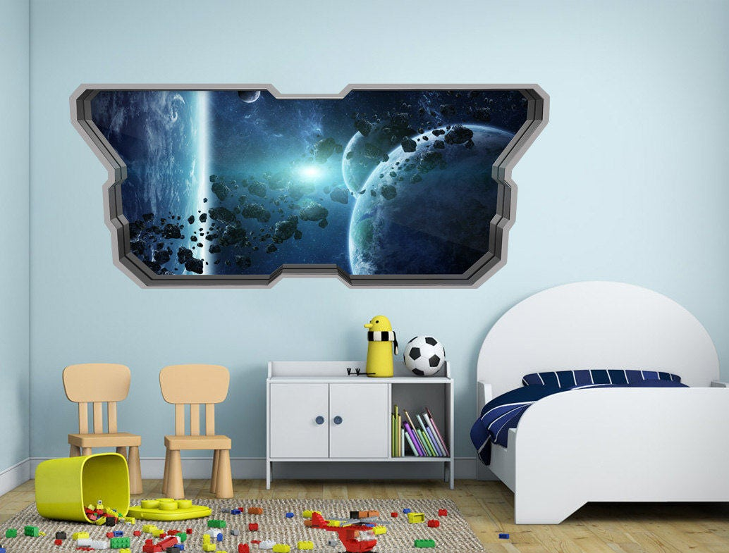 Asteroid Belt 3D Effect 3d wall 3D Wallpaper 3d Wall Art