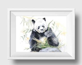Panda Art Print - Panda Wall Art - Panda Wall Decor - Panda Bear Print - Panda Bear Wall Decor - Kids Animal Art