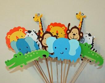 Jungle/Zoo/Circus/Safari Table Decorations- Set of 12