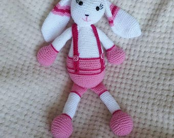 Bunny Amigurumi pink white crochet Baby Party