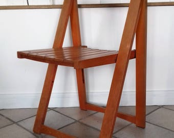 folding chair of Aldo Jacober for Alberto Bazzani years 60-70 (3 available)