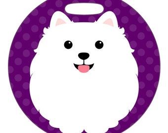 Luggage Tag - Pomeranian - Round Plastic Bag Tag