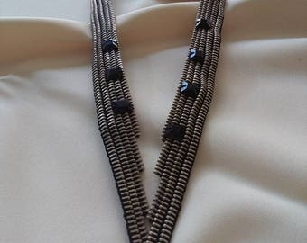 Zipper Necklace -Unique Jewelry -Zipper Jewelry