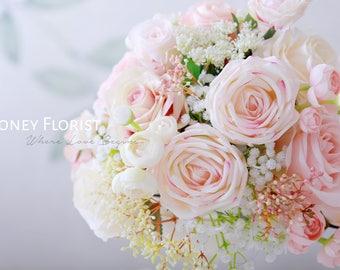 Honey Florist Wedding Special Material Table Floral Arrangement Centerpiece Decor, Silk Flower wedding reception, Table number , Home decor