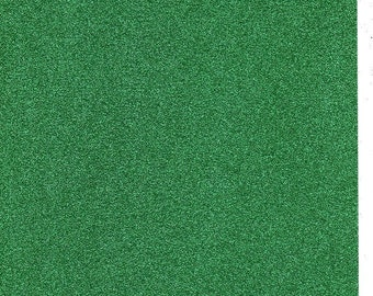 Emerald Green Glitter Card A4 soft touch low shed 1 sheet