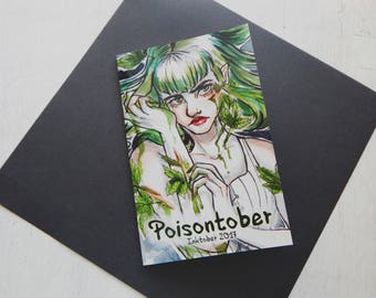 Poisontober Inktober 2017 Booklet - Inktober, Ink Drawing, Inktober 2017, Art Book, Art Zine, Art Collector, Original Art, Traditional Art