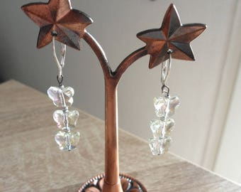 3 translucent butterfly earrings