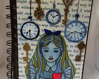 Alice in Wonderland A6 Lined Notebook/ Journal