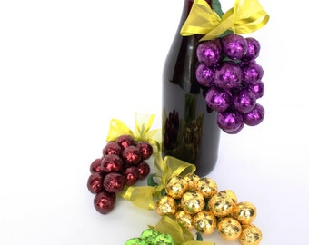 Gourmet Chocolate Grape Cluster  made with Double Dipped Malted Milk Balls