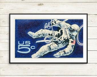 kids space decor, spaceship, astronauts, space art, nasa space travel, outer space, astronaut print, space nursery, astronaut art, space art