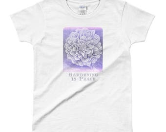 "Ladies ""Gardening is Peace"" T-shirt"