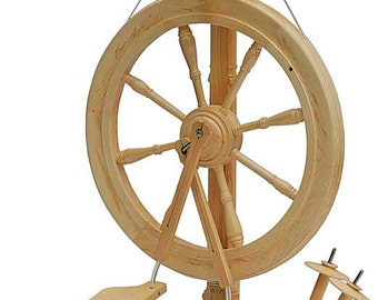 Kromski Sonata Spinning Wheel, Unfinished with Bag FREE Shipping + FREE Fiber