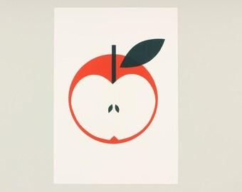 A3 Red Apple Screenprint