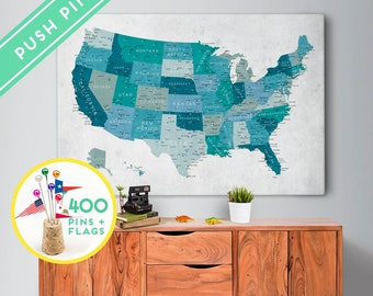 Us travel map Etsy